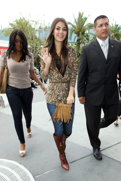 Victoria Justice Tasseled Shoulder Bag
