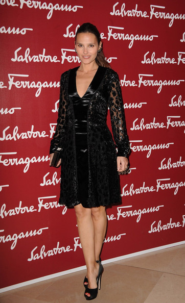 Virginie Ledoyen donned this intricately textured LBD to the Da Vinci exhibition in Paris.