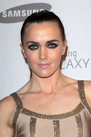Victoria Pendleton went for a super-dark smoky eye at the Samsung launch.
