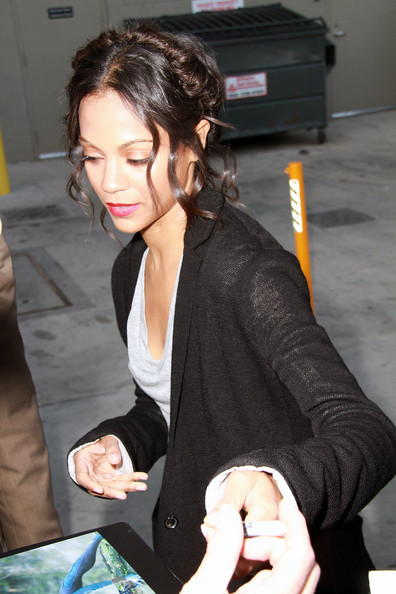 Zoe Saldana French Twist