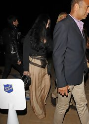Cher looked subtly boho in a long gold skirt during a dinner out with friends.