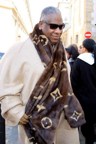 More Pics of Andre Leon Talley Fur Scarf (1 of 2) - Andre Leon Talley Lookbook - StyleBistro