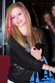 Avril Lavigne wore pale pink lipgloss during a night out on the town.