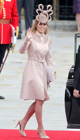 Princess Beatrice in Valentino at Kate Middleton's Wedding