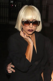 You can always count on Lady Gaga for an eye catching look. The style icon showed off a sophisticated bob while leaving the Mayfair hotel.