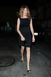 Rene Russo hit the town in a pair of classic black leather peep toes.