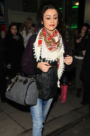 Cher Lloyd looked trendy carrying a crystal embellished bowler.