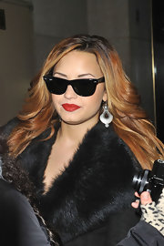 Demi Lovato appeared on the 'Today' show wearing her long lightened hair in feathered layers.