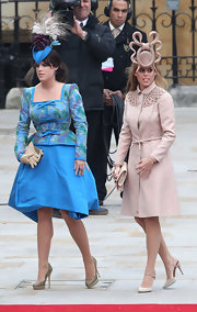 Princess Eugenie was a delight at the royal wedding in a vibrant cocktail dress.