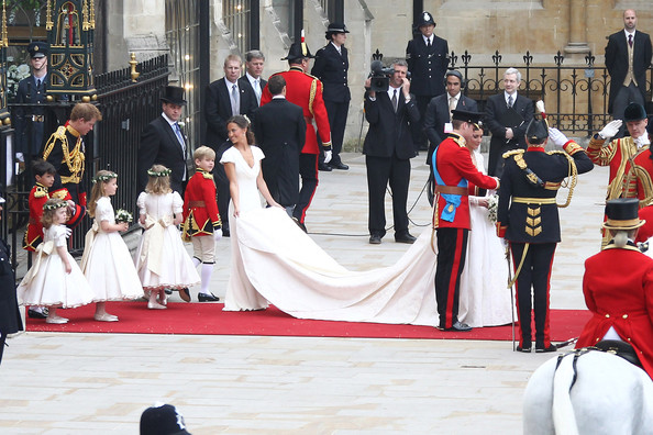 Kate+Middleton in Newly Married Royals Leave Westminster Abbey
