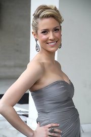 Kristin Cavallari's gorgeous updo perfectly showed off her statement earrings.