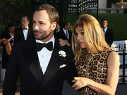 Tom Ford wore short hair in a trimmed beard to the amfAR Gala.
