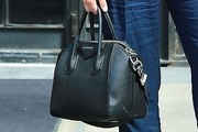 Ashley Benson Leather Bowler Bag