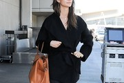 Lily Aldridge Wool Coat