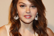 Aimee Teegarden Long Wavy Cut with Bangs