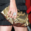 Alexis Bledel Metallic Clutch