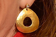 Allison Janney Gold Dangle Earrings