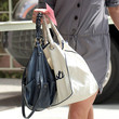 Alyson Hannigan Metallic Shoulder Bag