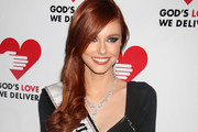 Alyssa Campanella's Side Swept Hairstyle at the 2011 Golden Heart Awards in NYC