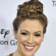 Alyssa Milano Braided Bun