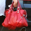 Amanda Bynes Leather Shoulder Bag