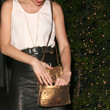 Amber Heard Metallic Shoulder Bag