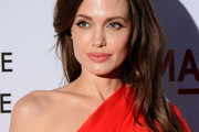 Angelina Jolie Dons Long Layered Cut to 'Tree of Life' Premiere