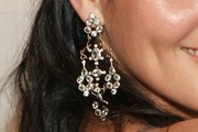 Angie Harmon Crystal Chandelier Earrings
