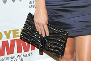 Anna Faris Gemstone Inlaid Clutch