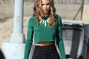 AnnaLynne McCord Fitted Blouse