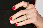 Anne Hathaway Red Nail Polish