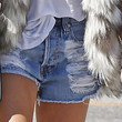 Ashley Tisdale Clothes - Denim Shorts