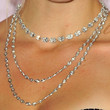 Bar Refaeli Layered Diamond Necklace