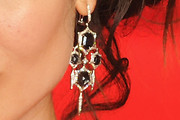 Berenice Marlohe Dangling Gemstone Earrings