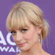 Beth Behrs Hair - Loose Bun