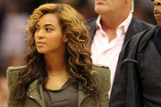 Beyonce Knowles Long Curls with Bangs