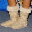 Beyonce Knowles Shoes - Sheepskin Boots