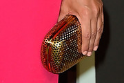 Kourtney Kardashian Metallic Clutch