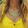 Blake Lively Bronze Statement Necklace