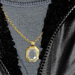 Brad Pitt Gold Link Necklace