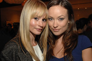 Cameron Richardson Long Straight Cut with Bangs