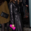 Carine Roitfeld Clothes - Leather Coat