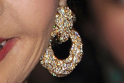Carolina Herrera Diamond Hoops