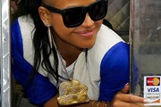 Cassie Ventura Gold Statement Necklace