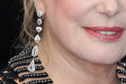 Catherine Deneuve Dangling Diamond Earrings