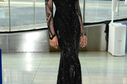 Chanel Iman Beaded Dress