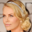 Charlize Theron Hair - Loose Bun