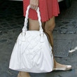 Charlotte Casiraghi Leather Bowler Bag