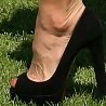 Christie Brinkley Peep Toe Pumps