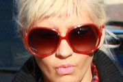 Christina Aguilera Oversized Sunglasses